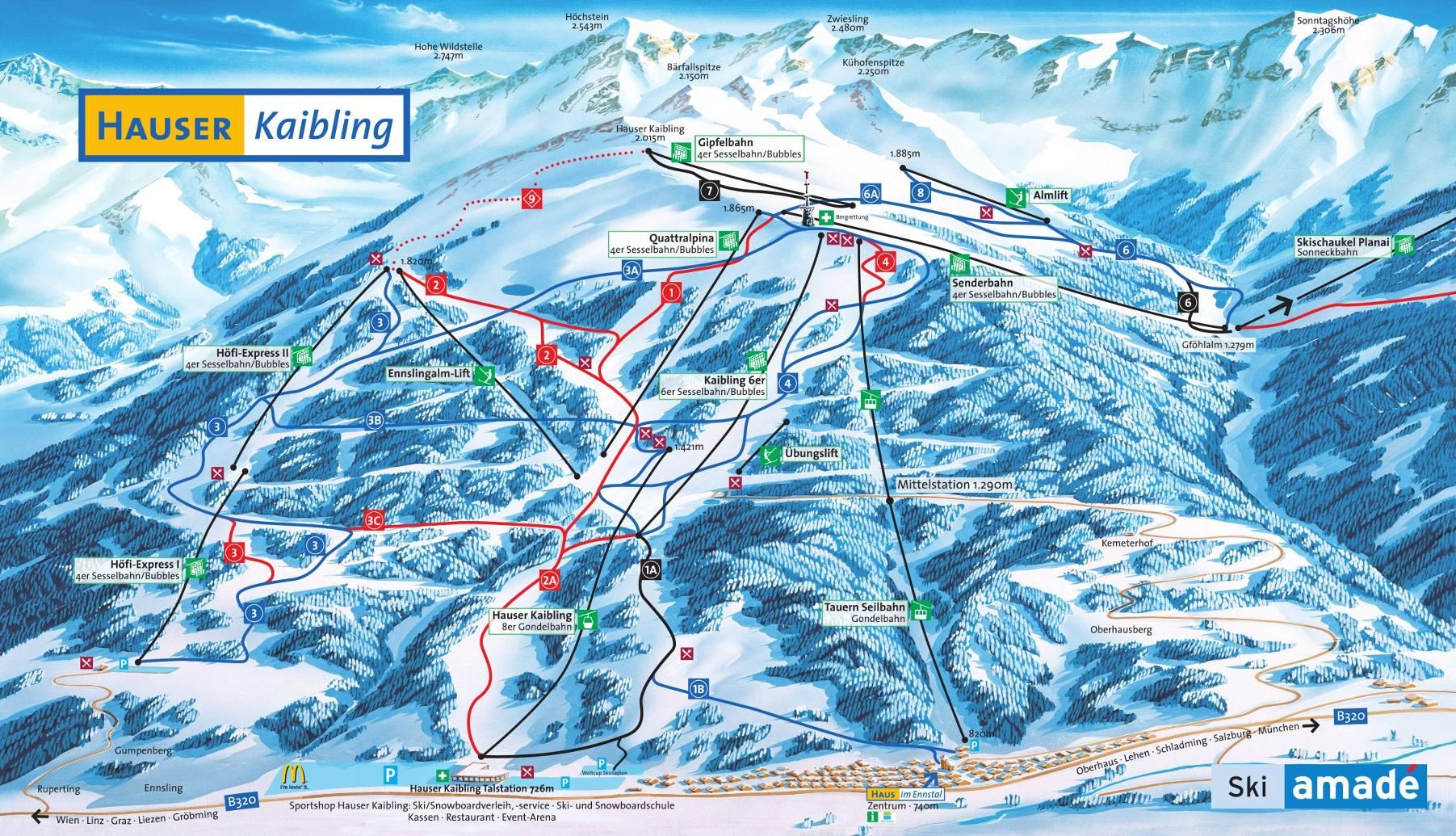 mapa hauser-kaibling